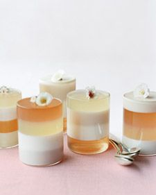 Wedding Jello Shots: Rosewater, ginger, lychee, and rose Champagne jellies. I wouldn't