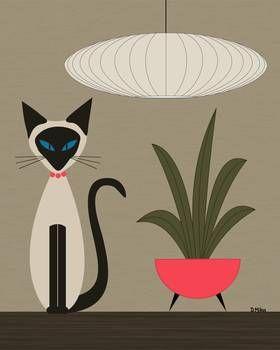 """""""Siamés en la mesa"""" por Donna Mibus"""