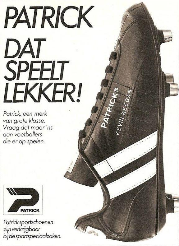 Patrick Kevin Keegan Football Boots ad