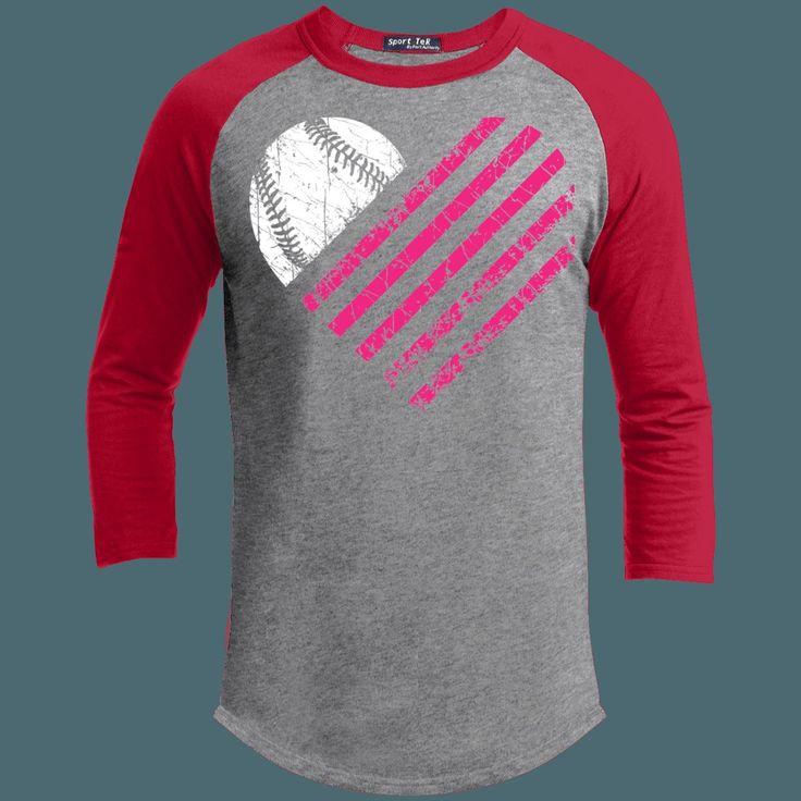 Baseball Heart - ADULT Short Sleeve Raglan (Unisex Fit)