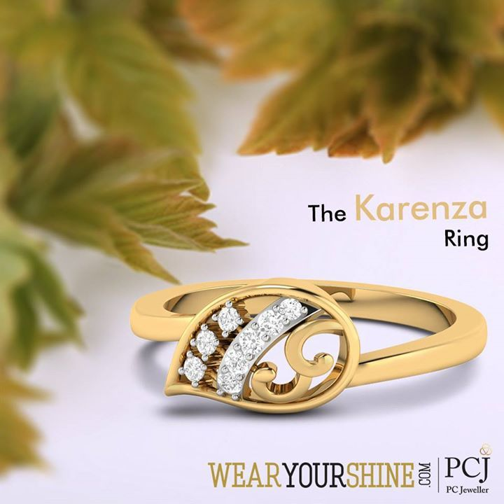 "Define the perfect love and lust with ""The #Karenza #ring "" by WearYourShine  #WearYourShine #love #Rings #diamonds #PCJeweller #Jewellery #Gold #Fashion #trends #Teamlove #Chic #Wedding #engagement"