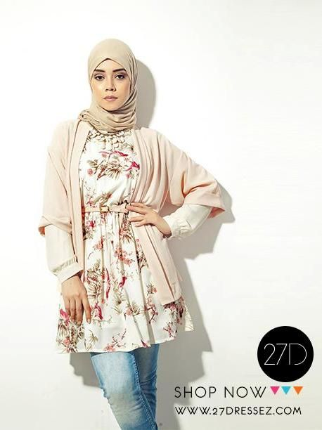 floral tunic dress outfit, 27dresses Eid collection http://www.justtrendygirls.com/27dresses-eid-collection/