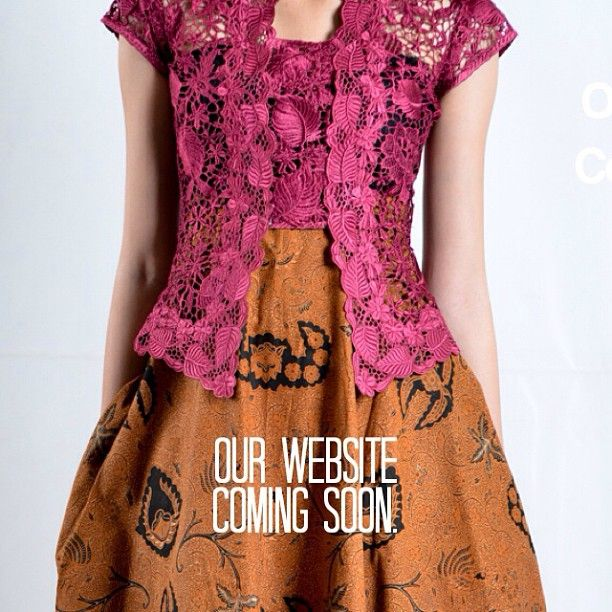 Pretty pink kebaya over batik skirt