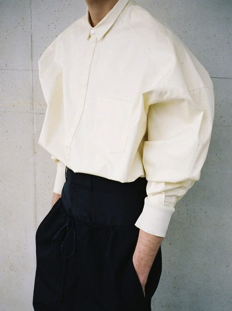 Juun J. S/S 2014 photographed by Mathieu Vilasco. Can't ever have enough perfect white shirts....