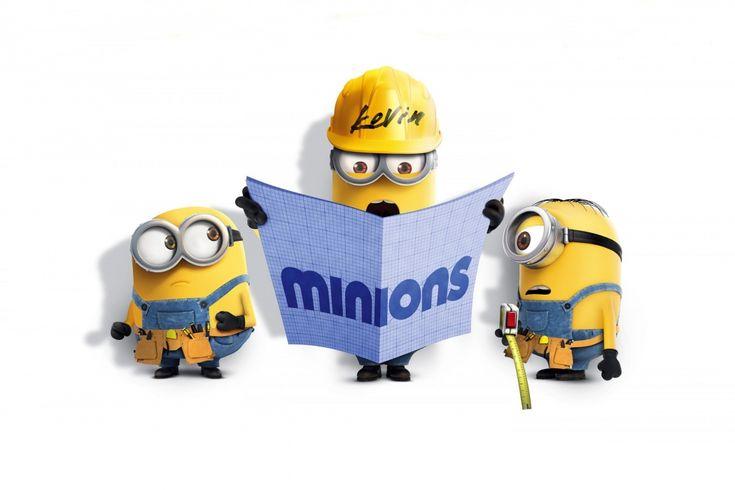 Minions, Film, Movie, Kevin, Stuart, Bob, Cute, Funny, Newspaper, Glasses, Helme