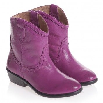 Girls Purple Leather Cowboy Boots (Carson) from Children Salon