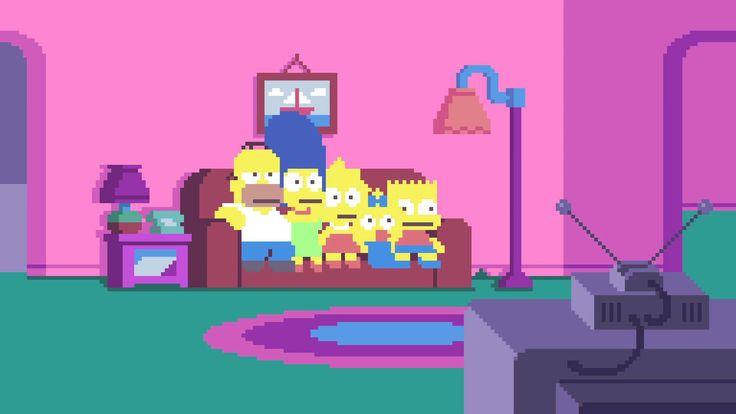 Le générique des #Simpsons, version pixels