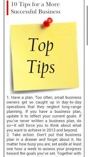 list of top 10 tips for business writing success