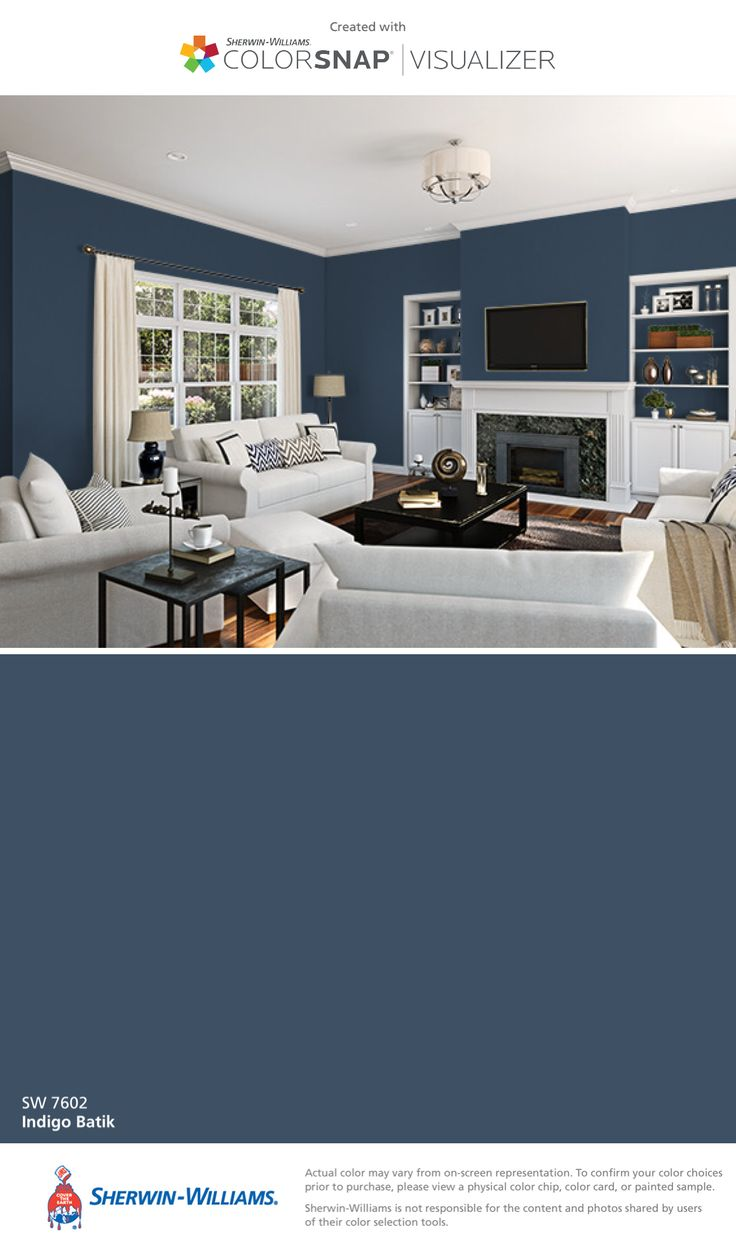 Sherwin-Williams: Indigo Batik (SW 7602).