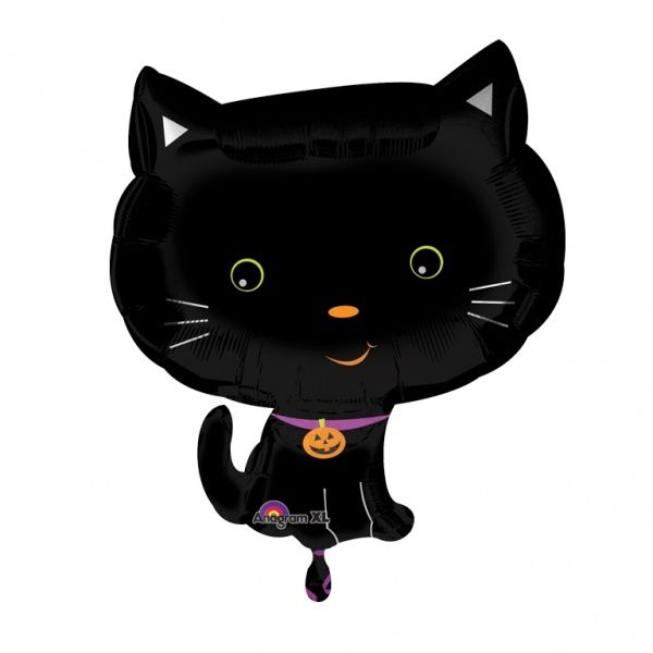 Glad halloween söt kattunge folieballong - 46 cm - 35kr - Zingland.se