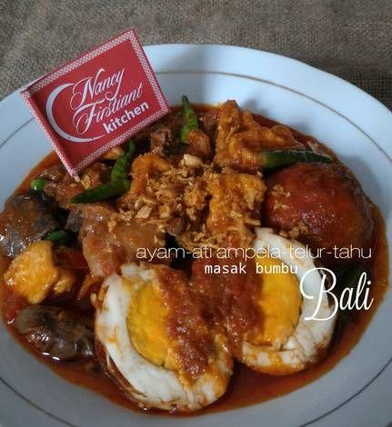 Ayam Ati Ampela Telur Tahu Bumbu Bali