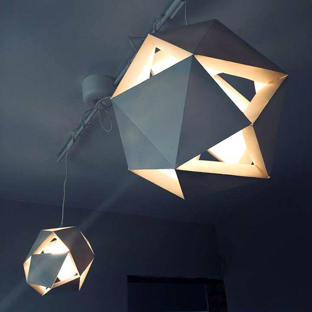 Paper Ceiling Light Geo Papier Diy Idees Pour La Maison Et