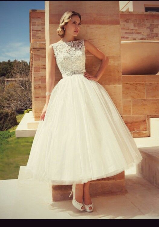 Tea length wedding dress                                                                                                                                                     More