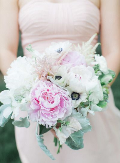 Peonies and anemone: http://www.stylemepretty.com/missouri-weddings/2014/09/03/missouri-inspiration-shoot-at-longview-farm/ | Photography: Carretto Studio - http://www.carrettophoto.com/