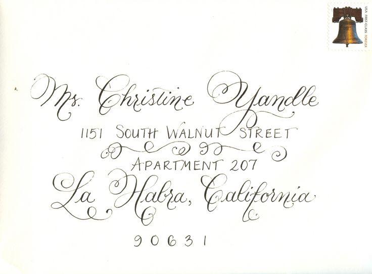 30 Best Calligraphy Envelope Art Images On Pinterest
