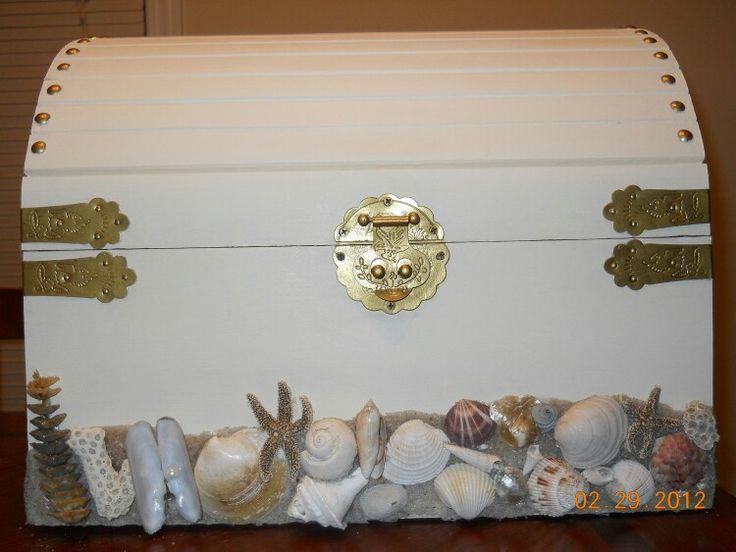 Treasure Chest Wedding Gift Card Box : Treasure chest card box