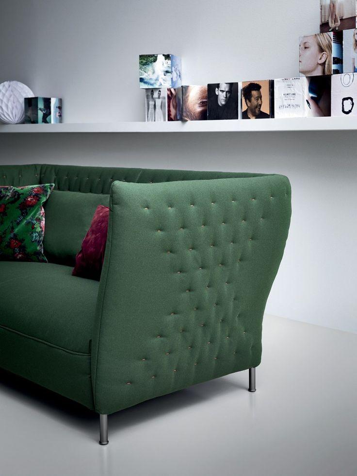 Upholstered 2 seater leisure sofa - Saba