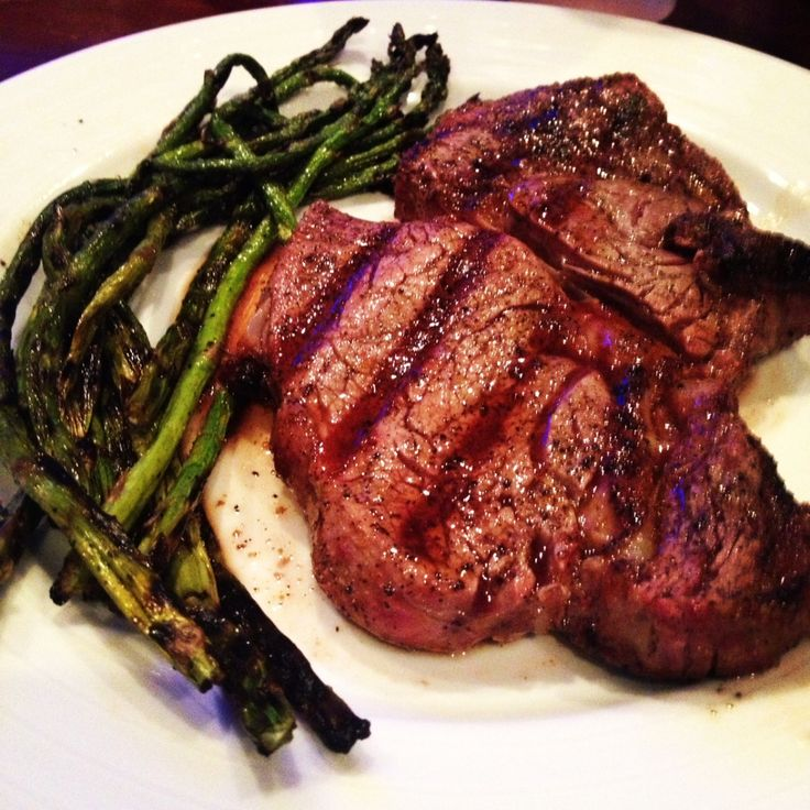 ... simple and delicious with a classic rib-eye steak. He ran to Whole