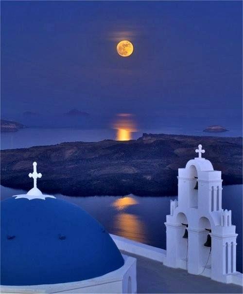 Santorini en luna llena!!!