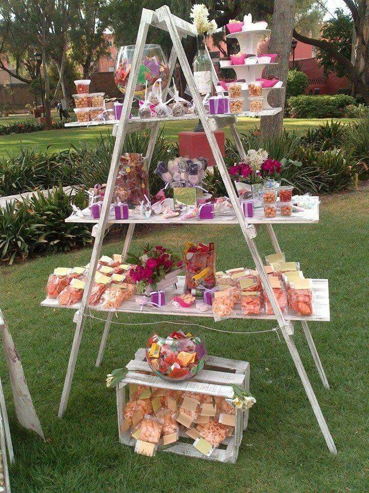Great ideas favour stations sweet bars cake ladder