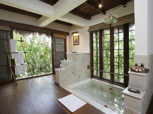 Amazing sunken tub