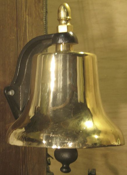 Brass Bell 12 inch diameter shown with wall or post mount Can be used for Golf Course Alert Bell
