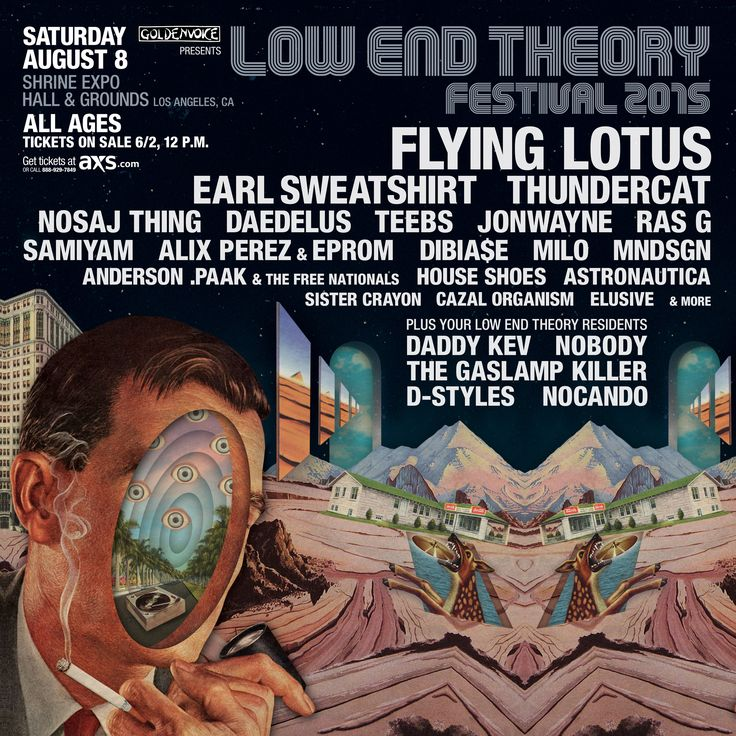 Low End Theory Festival Announces 2015 Lineup With Flying Lotus, Earl Sweatshirt http://www.laweekly.com/music/low-end-theory-festival-announces-2015-lineup-with-flying-lotus-earl-sweatshirt-5634010?utm_content=bufferb3b0d&utm_medium=social&utm_source=pinterest.com&utm_campaign=buffer #music