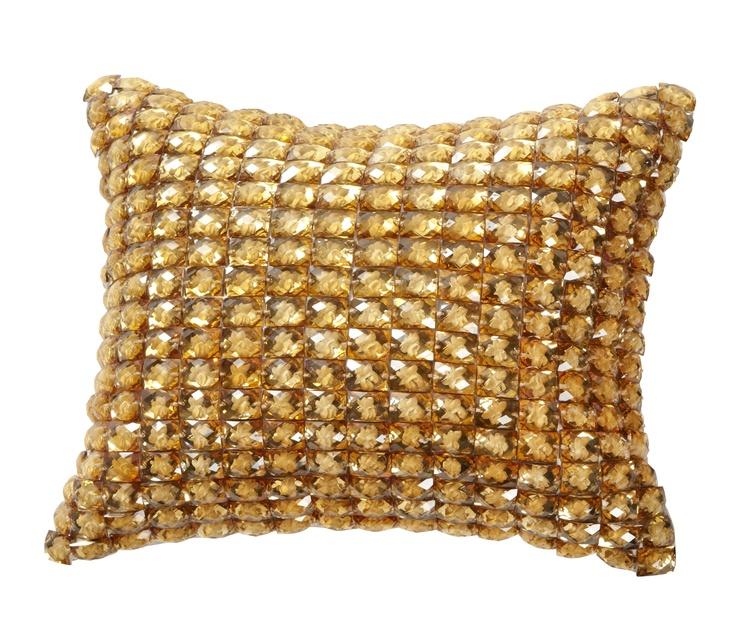 keekï - vibrant gem cushion - gold