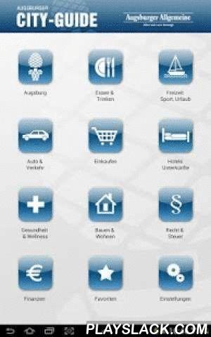 Augsburger City Guide  Android App - playslack.com , Alles auf einen Blick!Mit dem Augsburger City Guide finden Sie immer was Sie gerade brauchen. Handwerker, Dienstleister, Restaurants oder Cafés, wir haben Sie alle. Laden Sie sich gleich diese kostenlose Branchenführer-App herunter. Die übersichtliche Gestaltung ermöglicht es Ihnen schnell und zielgenau zu finden was sie suchen. Durch die integrierte Kartenansicht sehen sie sofort den Standort des Unternehmens. Tippen Sie z.B. einfach auf…