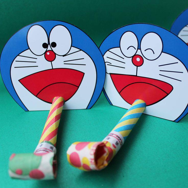 Doraemon party - cutout printouts, party favours