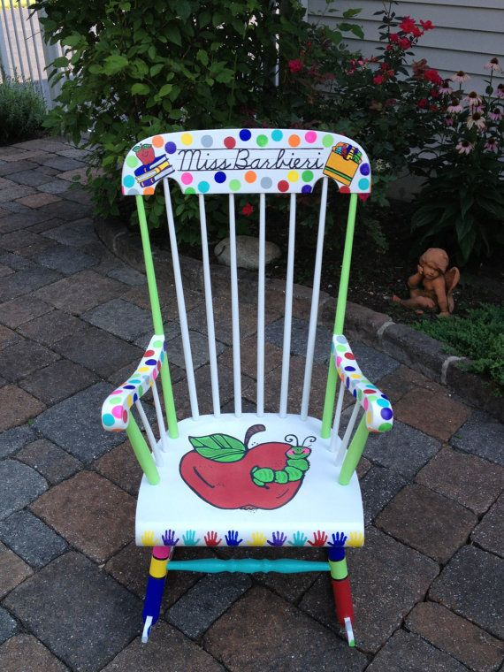 Handpainted Custom Teacher Chair  Your Chair My by NotJustSigns