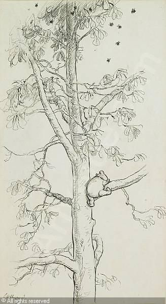 Best 25 winnie the pooh drawing ideas on pinterest simple winnie the pooh in a tree 1926 by aa milne illustration voltagebd Gallery