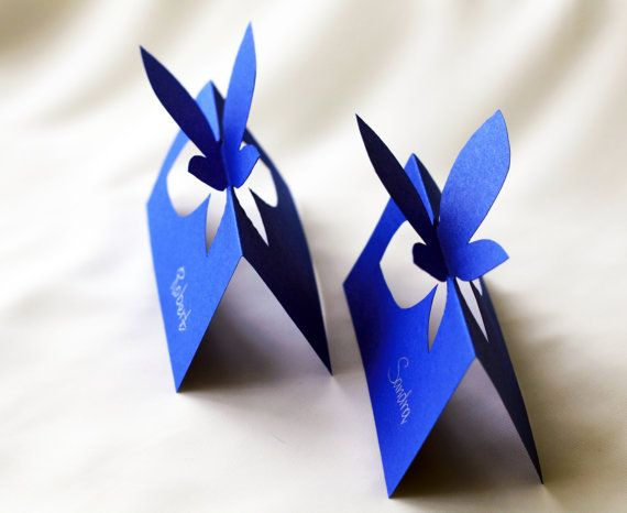 Butterfly Wedding Place Cards with Handwritten by WhiteVeilShop, $10.00: