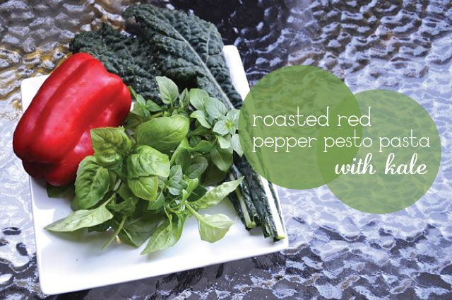 Roasted Red Pepper Pesto Pasta with Kale | Eats & Treats | Pinterest