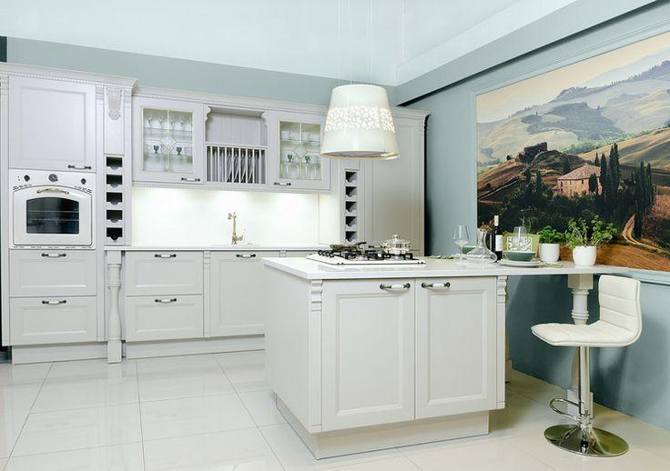 Studio Asan Dzierżoniów KUCHNIA PROWANSALSKA-Bardzo stylowe meble kuchenne w jasnych odcieniach.