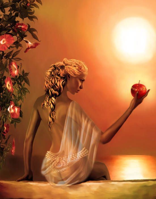 Aphrodite is the Greek goddess of love, beauty, and sexuality. According to Greek poet Hesiod, she was born when Cronus cut off Uranus' genitals and threw them into the sea, and from the aphros (sea foam) arose Aphrodite.  In Roman Mythology she is known as Venus.