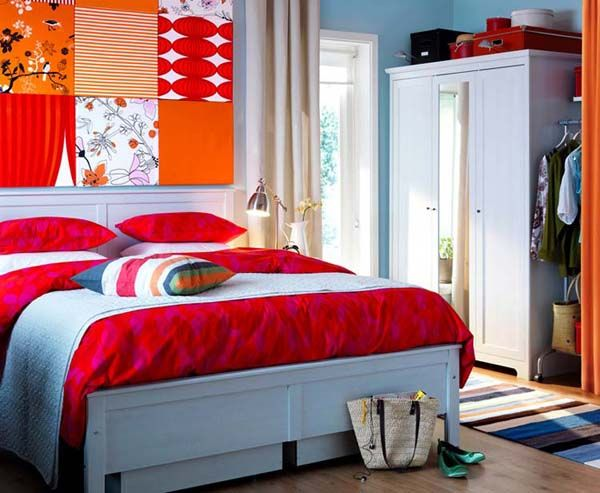 Modern Bedroom Red best 20+ bright colored bedrooms ideas on pinterest | bright