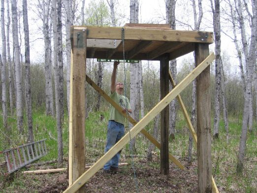 Building A Box Blind For Deer Hunting