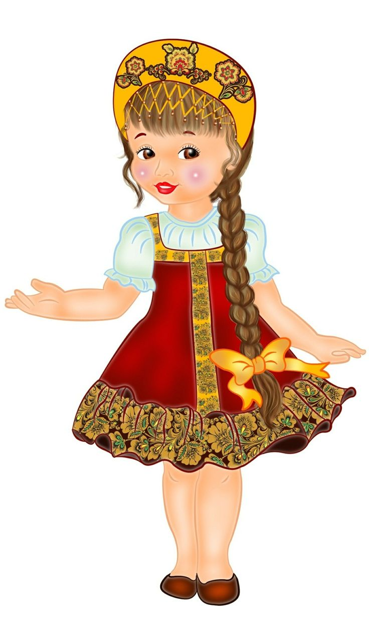 Russian costume. Project of a Russian folk fancy dress for a kid's party.