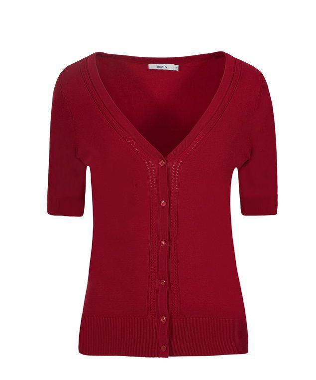Elbow Sleeve Cardi, Poppy Red #loverickis #rickisfashion #rickis #instantoutfit #instantOOTD #summer #summer2017 #summerfashion