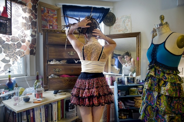 Rania Matar - photographed teenage girls in their rooms - exploring personal space and the person.