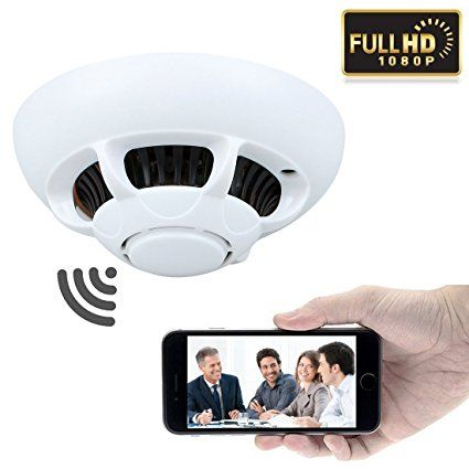GZDL HD 1080P P2P <b>Wifi</b> Wireless Hidden Camera <b>Smoke Detector</b> ...
