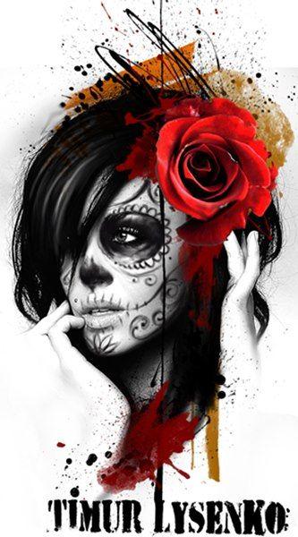 Timur Lysenko,day of dead,jour des morts,Santa muerta,Mexico