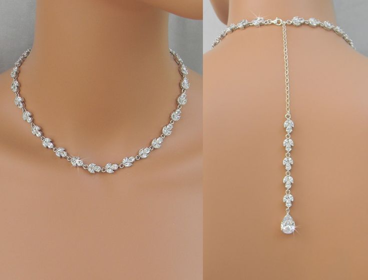 Back Drop Bridal Necklace Crystal Backdrop by CrystalAvenues, $102.00