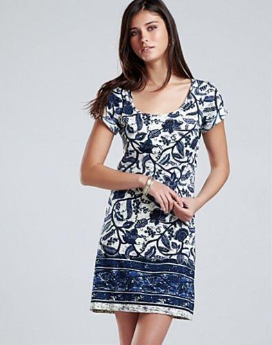 Chantal Border Print T-Shirt Dress - Batik Shop - Lucky Brand Jeans