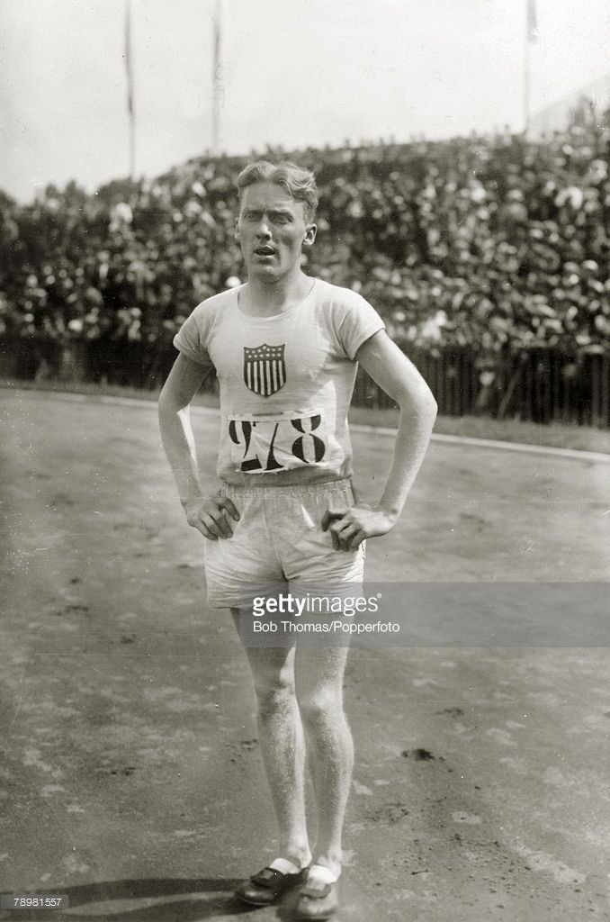 Sport, 1924 Olympic Games in Paris, Mens 400 metres Hurdles, F,Morgan Taylor, the Gold medal winner in the 400 metres Hurdles, Taylor won in a world record time, but the time was not allowed to stand as he knocked over one hurdle, which was a rule violation of that time
