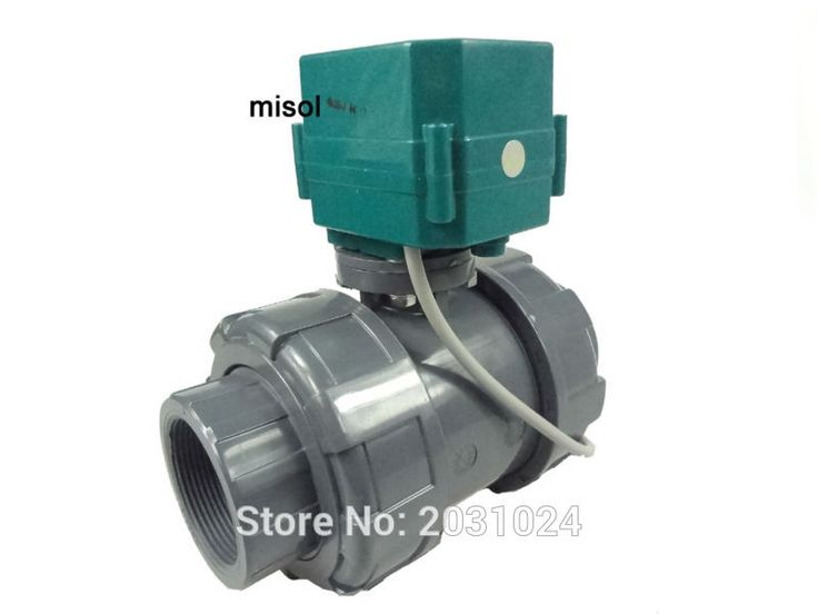 "misol/motorized pvc valve 12V, DN50 (BSP, 2""), PVC valve, 2 way, electrical pvc valve, CR01 #Affiliate"
