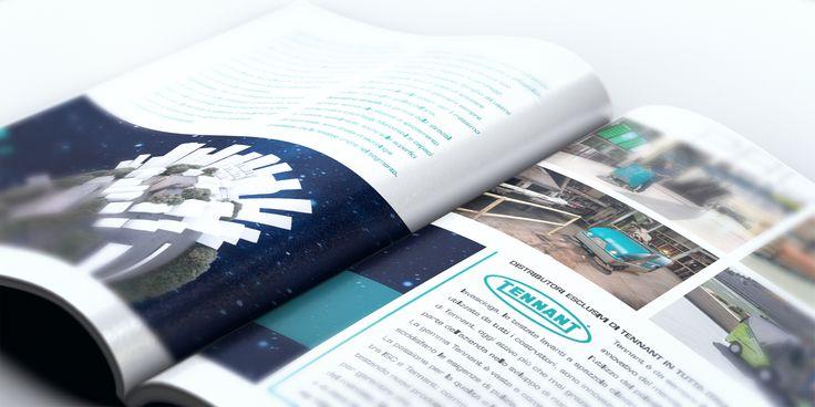 Dettaglio della brochure corporate di ISC Group.