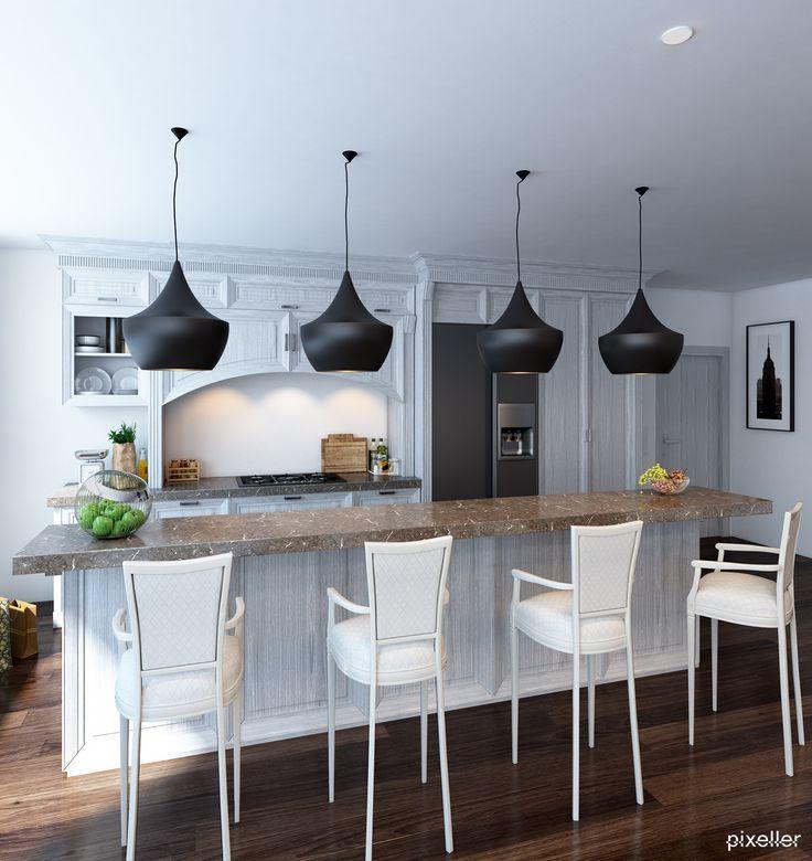 Classic kitchen design #white #wood