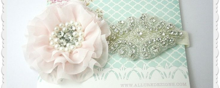 Ruffle Chiffon, Pearls & Bling Headpiece